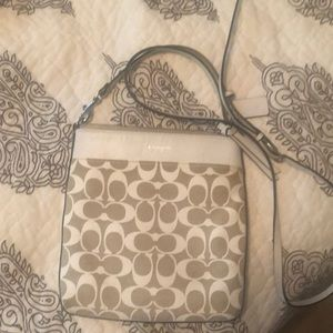 Barely used Coach signature messenger bag